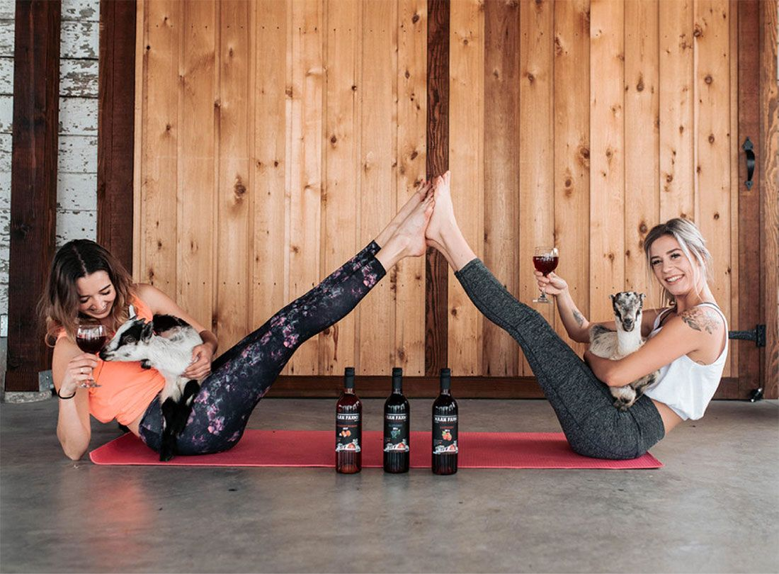 Goat yoga and wine events